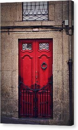 No. 24 - The Red Door Canvas Print by Mary Machare