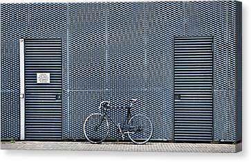 Parking Canvas Print - No Bikes Please by Linda Wride