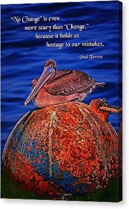 No Change Canvas Print by Mike Flynn