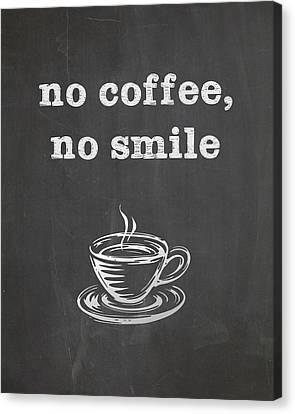 No Coffee No Smile Canvas Print