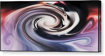No Escape From The Black Hole Canvas Print by rd Erickson