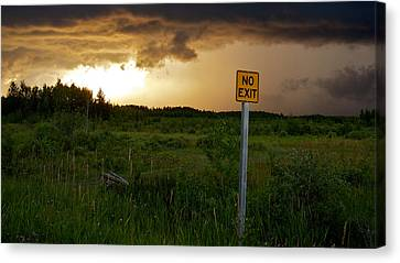 Canvas Print featuring the photograph No Exit by Trever Miller