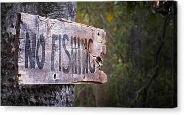 No Fishing Canvas Print by Brenda Bryant