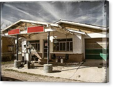 Canvas Print featuring the photograph No Gas by Steven Bateson