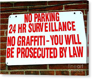 No Graffiti Canvas Print by Ed Weidman