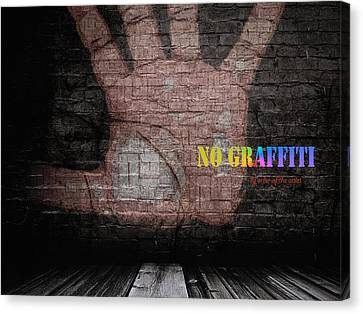 No Graffiti Canvas Print by ISAW Gallery