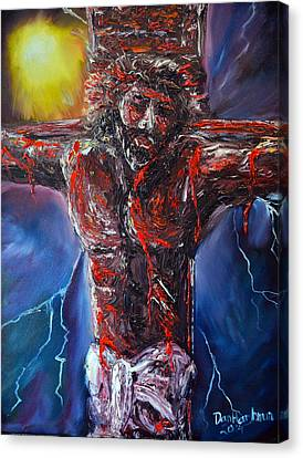 Pallet Knife Canvas Print - No Greater Love by Dan Harshman