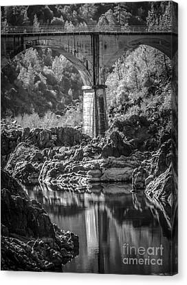 No Hands Bridge  Canvas Print by Mitch Shindelbower