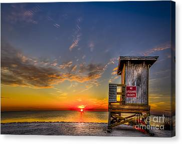 No Life Guard On Duty Canvas Print by Marvin Spates