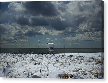 No Lifeguard On Duty Canvas Print by Amazing Jules