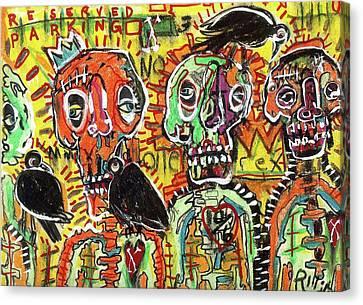 Art Brut Canvas Print - No Loitering by Robert Wolverton Jr
