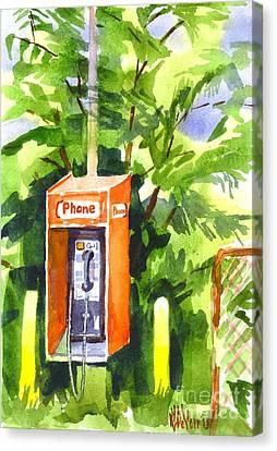 No Longer In Service Watercolor  Canvas Print