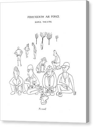 No Mail Canvas Print by Saul Steinberg