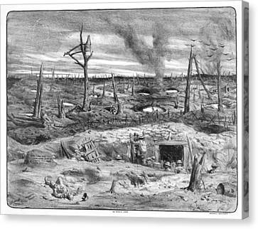 Pencil Sketch Canvas Print - No Man's Land by Library Of Congress
