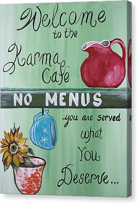 No Menus Canvas Print
