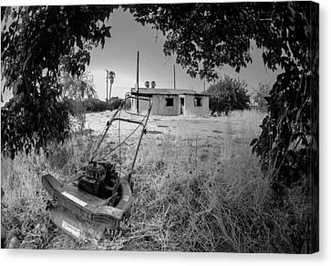 Abandoned Canvas Print - No More Chores Bw by Scott Campbell