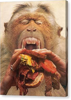 No More Fast Food Canvas Print