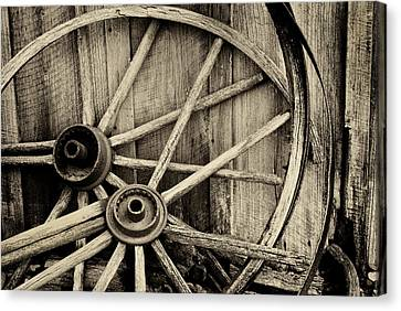 Wagon Wheels Canvas Print - No More Miles Left by Paul W Faust -  Impressions of Light