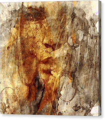 Unusual Canvas Print - No Name Face by Marian Voicu