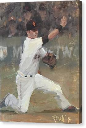 San Francisco Giants Canvas Print - No Panic by Darren Kerr