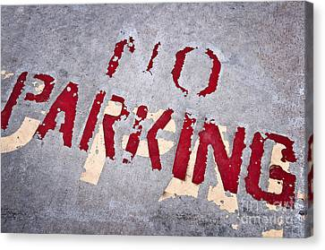 No Parking Canvas Print by Delphimages Photo Creations