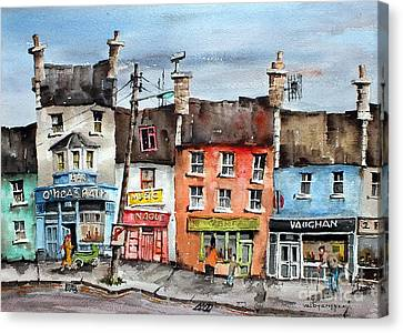 Clare  No Parking In Ireland Canvas Print by Val Byrne
