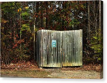 No Parking Canvas Print by Paulette B Wright