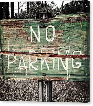 No Parking Canvas Print by Scott Pellegrin