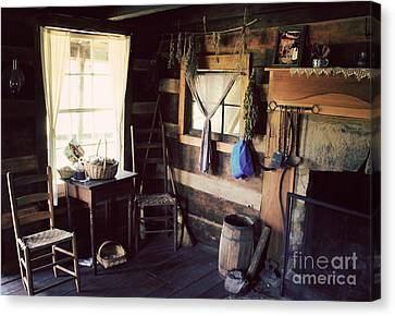 Cabin Window Canvas Print - No Place Like Home by Lena Auxier