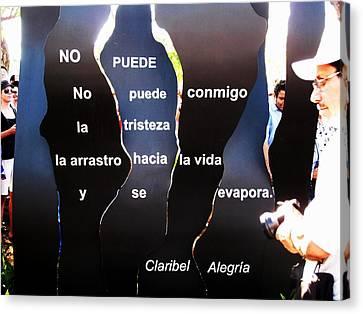 No Puede By Claribel Alegria Canvas Print