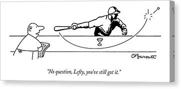 No Question Canvas Print by Charles Barsotti