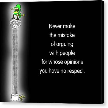 No Respect Canvas Print by Mike Flynn