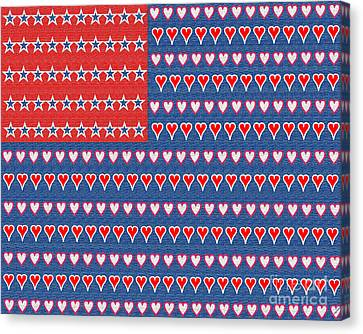 4th July Canvas Print - No Surrender by Linda Galok