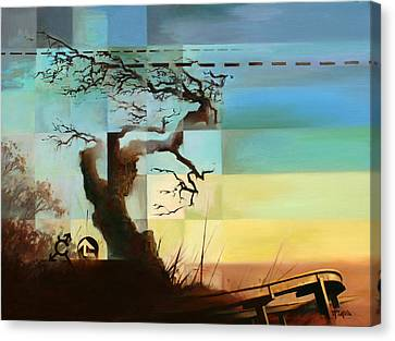 Canvas Print featuring the painting No Thing Lasts Forever by Dave Platford