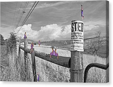 Selecting Canvas Print - No Trespassing by Betsy Knapp