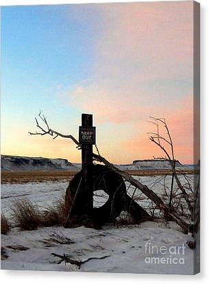 No Trespassing Canvas Print by Desiree Paquette