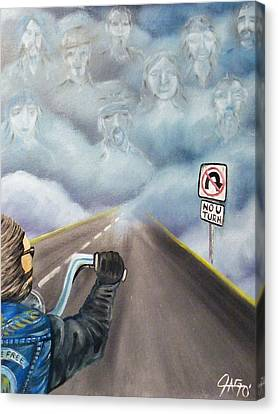 No U Turn Canvas Print by The GYPSY And DEBBIE