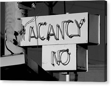 Canvas Print featuring the photograph No Vacancy by Daniel Woodrum