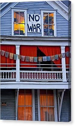 Tibetan Buddhism Canvas Print - No War by Randall Nyhof