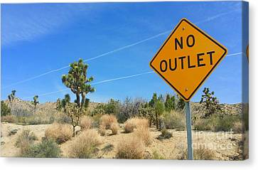 No Way Out Canvas Print by Angela J Wright