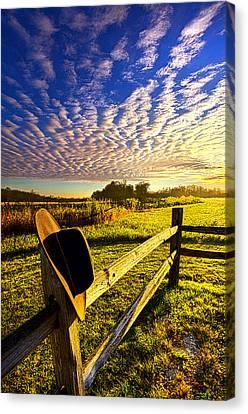 Cowboy Hat Canvas Print - No Worries by Phil Koch