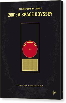 Drama Canvas Print - No003 My 2001 A Space Odyssey 2000 Minimal Movie Poster by Chungkong Art