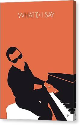 No003 My Ray Charles Minimal Music Poster Canvas Print
