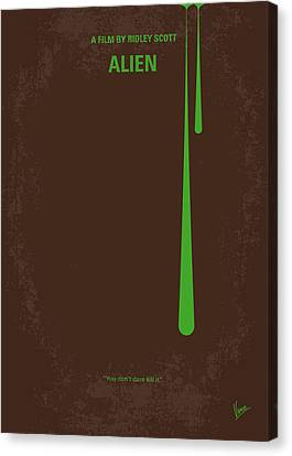No004 My Alien Minimal Movie Poster Canvas Print by Chungkong Art