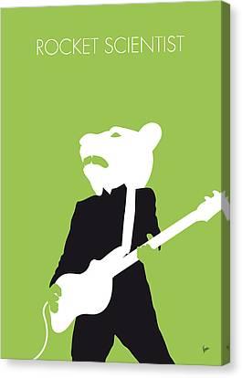 No006 My Teddy Bears Minimal Music Poster Canvas Print