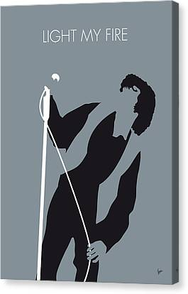 No007 My The Doors Minimal Music Poster Canvas Print by Chungkong Art