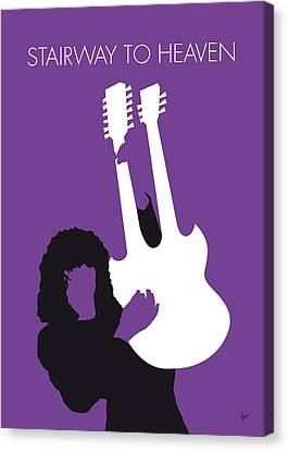 Led Zeppelin Artwork Canvas Print - No011 My Led Zeppelin Minimal Music Poster by Chungkong Art