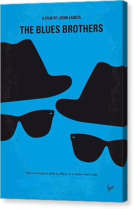 Graphic Canvas Print - No012 My Blues Brother Minimal Movie Poster by Chungkong Art