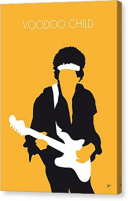 Guitar Canvas Print - No014 My Jimi Hendrix Minimal Music Poster by Chungkong Art