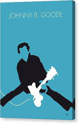 No015 My Chuck Berry Minimal Music Poster Canvas Print by Chungkong Art